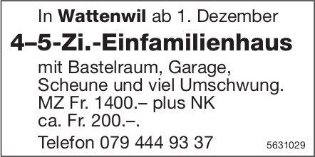 4–5-Zi.-Einfamilienhaus in Wattenwil zu vermieten
