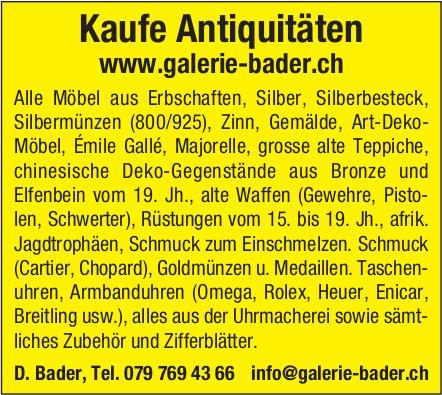 D. Bader - Kaufe Antiquitäten