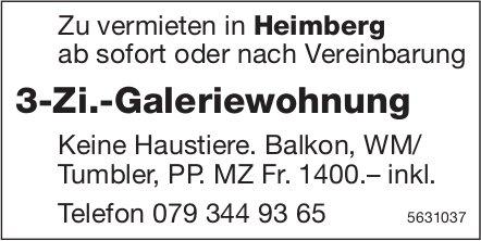 3-Zi.-Galeriewohnung in Heimberg zu vermieten