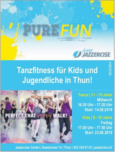 Purefun, Jazzercise Center - Tanzfitness für Kids und Jugendliche in Thun!