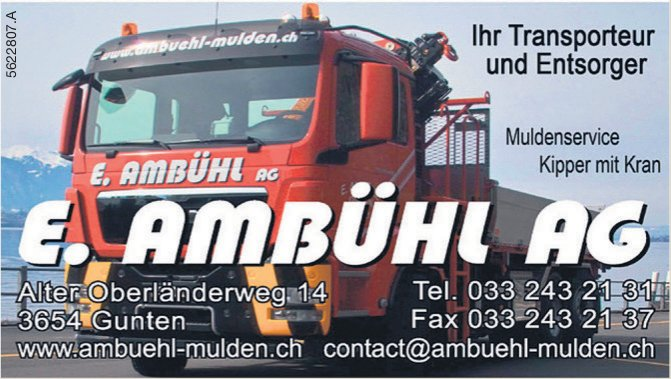 E. Ambühl AG - Ihr Transporteur und Entsorger