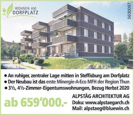 3.5, 4.5-Zimmer-Eigentumswohnungen in Steffisburg am Dorfplatz zu vermieten