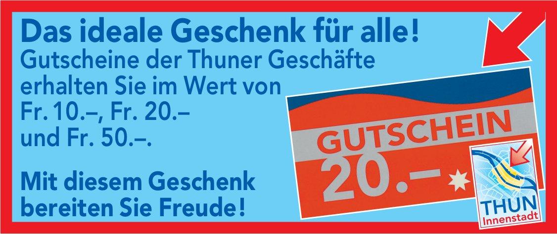 Gutscheine der Thuner Geschäfte: Das ideale Geschenk für alle!