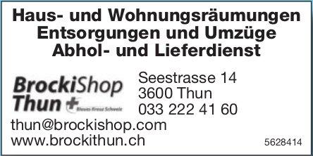 BrockiShop Thun - Haus- und Wohnungsräumungen, Entsorgungen und Umzüge