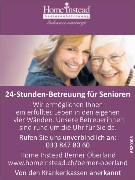 Home Instead Berner Oberland - 24-Stunden-Betreuung für Senioren