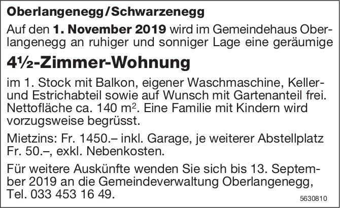 4½-Zimmer-Wohnung, Oberlangenegg /Schwarzenegg zu vermieten