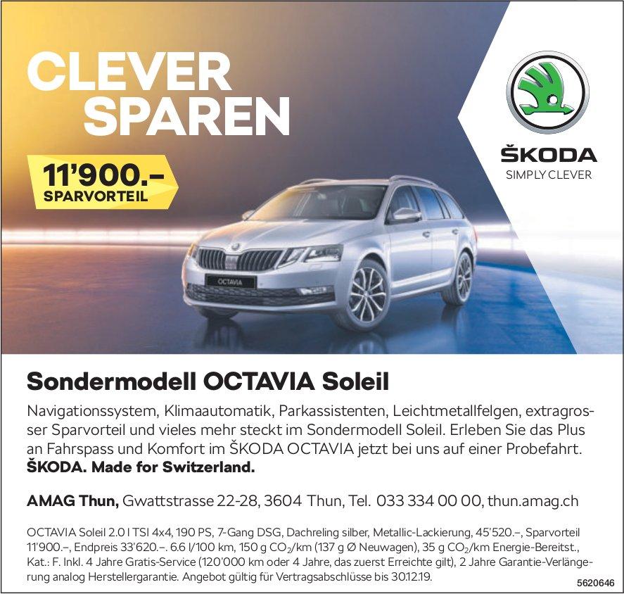 AMAG Thun - Sondermodell Skoda OCTAVIA Soleil