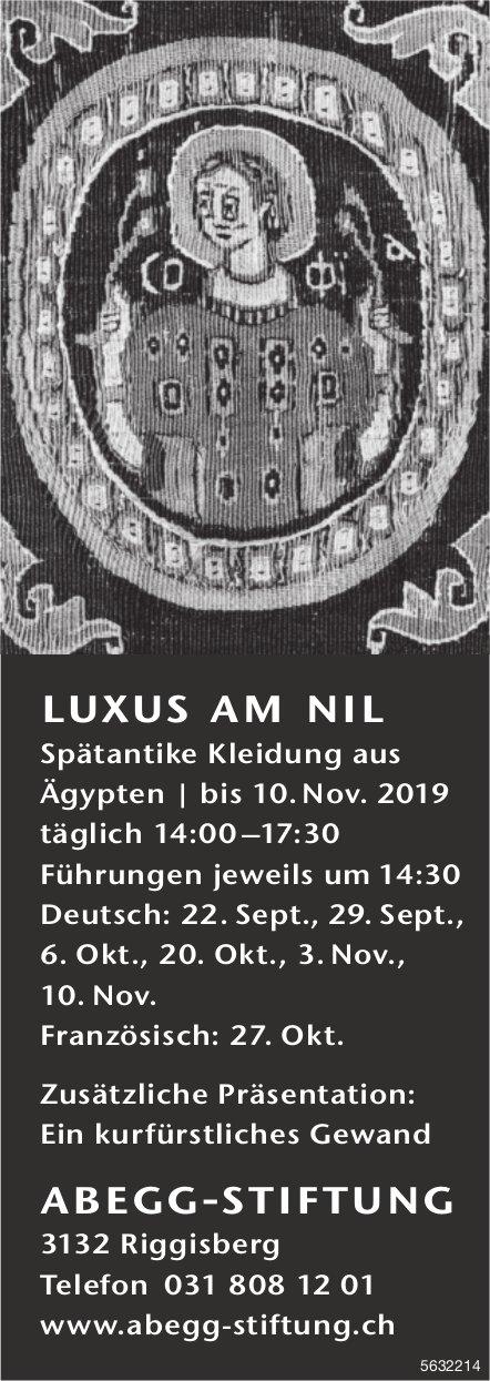 Abegg-Stiftung, Riggisberg - Luxus am Nil, Spätantike Kleidung aus Ägypten bis 10. Nov.