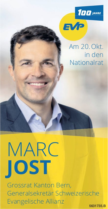 MARC JOST - in den Nationalrat