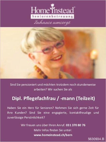 Dipl. Pflegefachfrau / -mann (Teilzeit), Home Instead Seniorenbetreuung, Bern, gesucht
