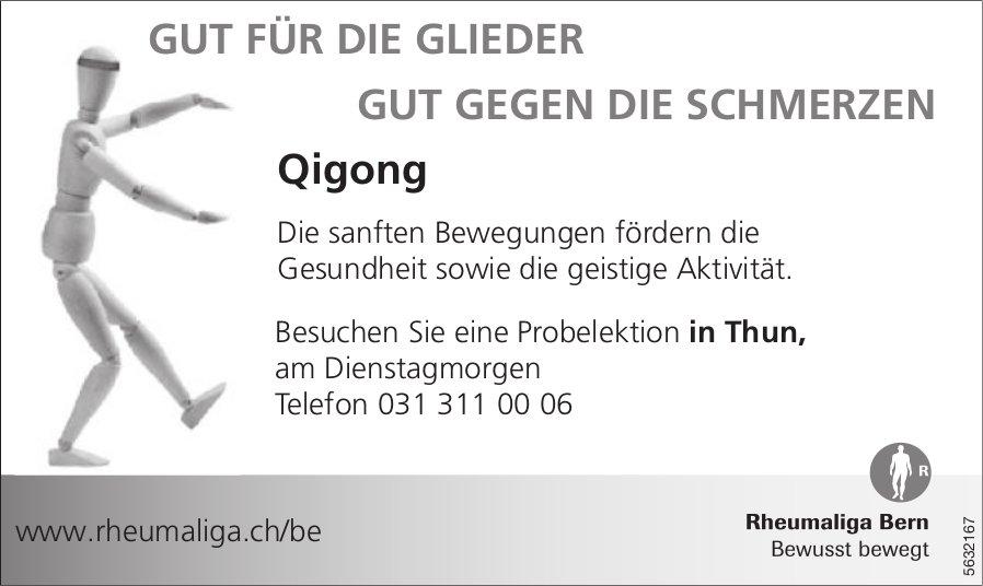 Rheumaliga Bern - Qigong in Thun: Gut für die Glieder, gut gegen die Schmerzen