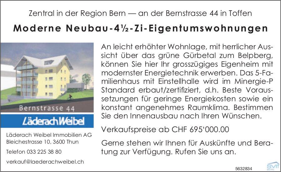 Moderne Neubau-4½-Zi-Eigentumswohnungen in Toffen zu verkaufen