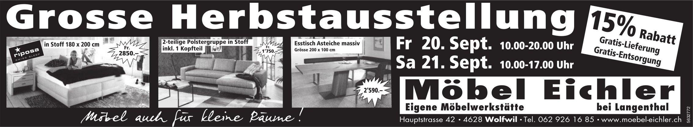 Grosse Herbstausstellung, 20./21. September, Möbel Eichler, Wolfwil