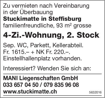 4-Zi.-Wohnung, 2. Stock in der Überbauung Stuckimatte in Steffisburg zu vermieten