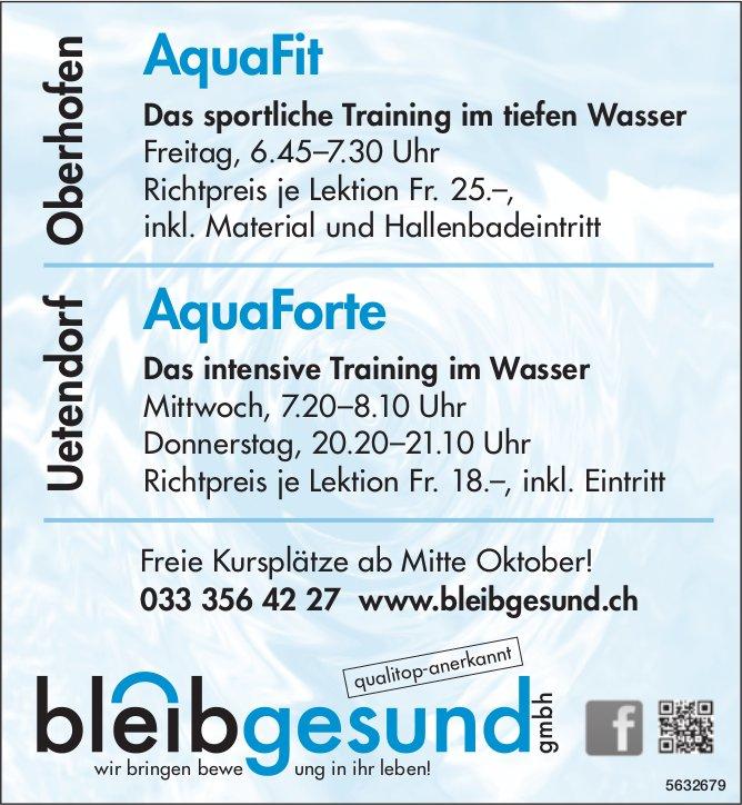 Bleibgesund GmbH - Aquafit / AquaForte