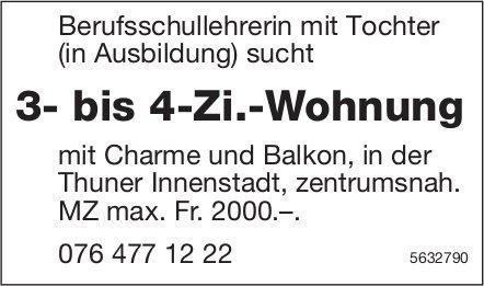 3- bis 4-Zi.-Wohnung in der Thuner Innenstadt, zentrumsnah, zu mieten gesucht