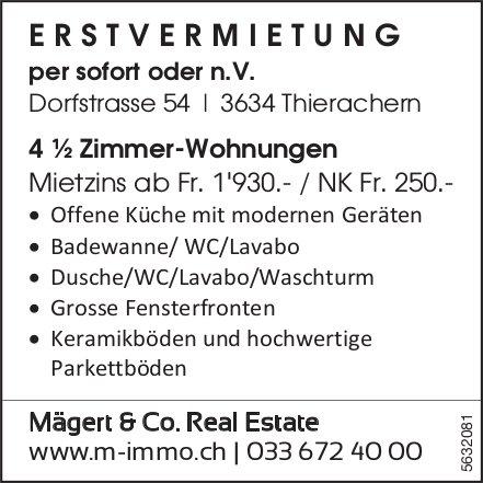 Erstvermietung von 4 ½ Zimmer-Wohnungen in Thierachern