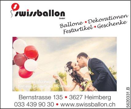 Swissballon GmbH, Heimberg - Ballone, Dekorationen...
