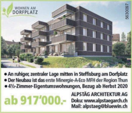 4.5-Zimmer-Eigentumswohnungen in Steffisburg am Dorfplatz zu verkaufen
