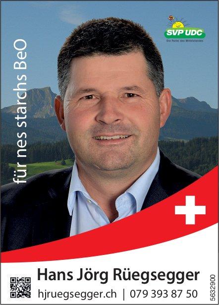 SVP - Hans Jörg Rüegsegger für nes starchs BeO