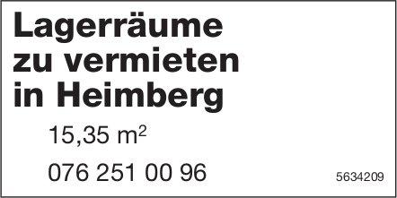 Lagerräume 15.35 m2 in Heimberg zu vermieten
