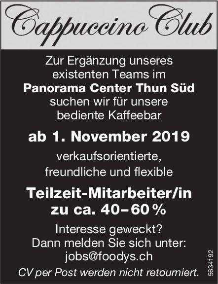 Teilzeit-Mitarbeiter/in, Panorama Center Thun Süd, gesucht