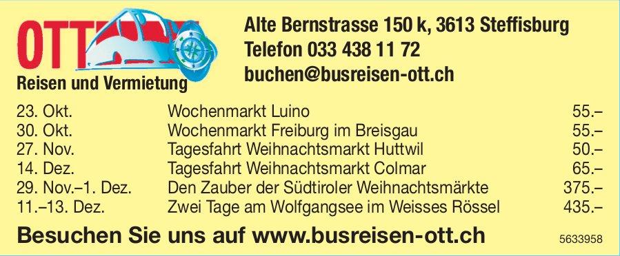 OTT Reisen & Vermietung - Programm & Events