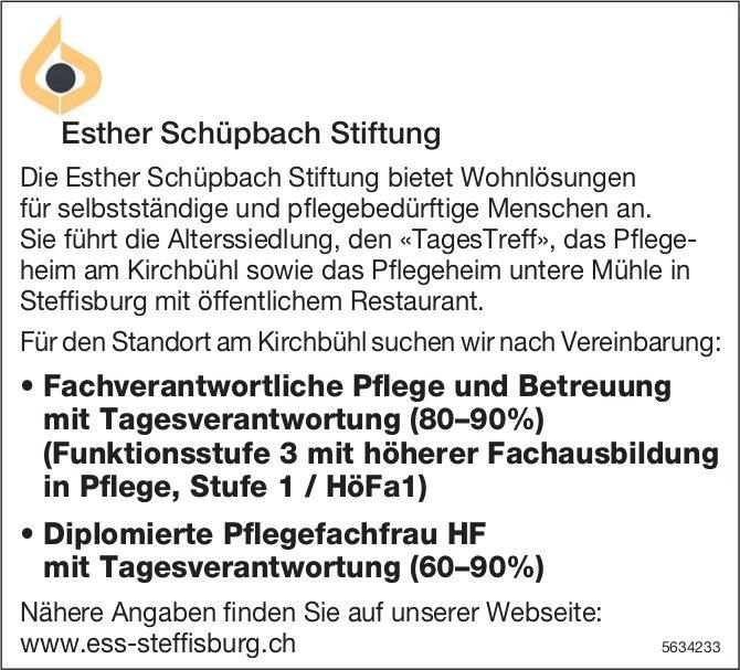 Pflege und Betreuung, Esther Schüpbach Stiftung, Steffisburg, gesucht