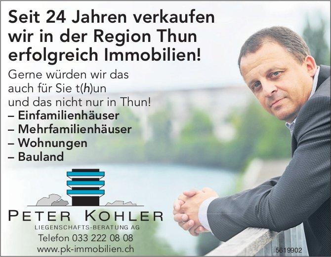 Peter Kohler - Seit 24 Jahren verkaufen wir in der Region Thun erfolgreich Immobilien!
