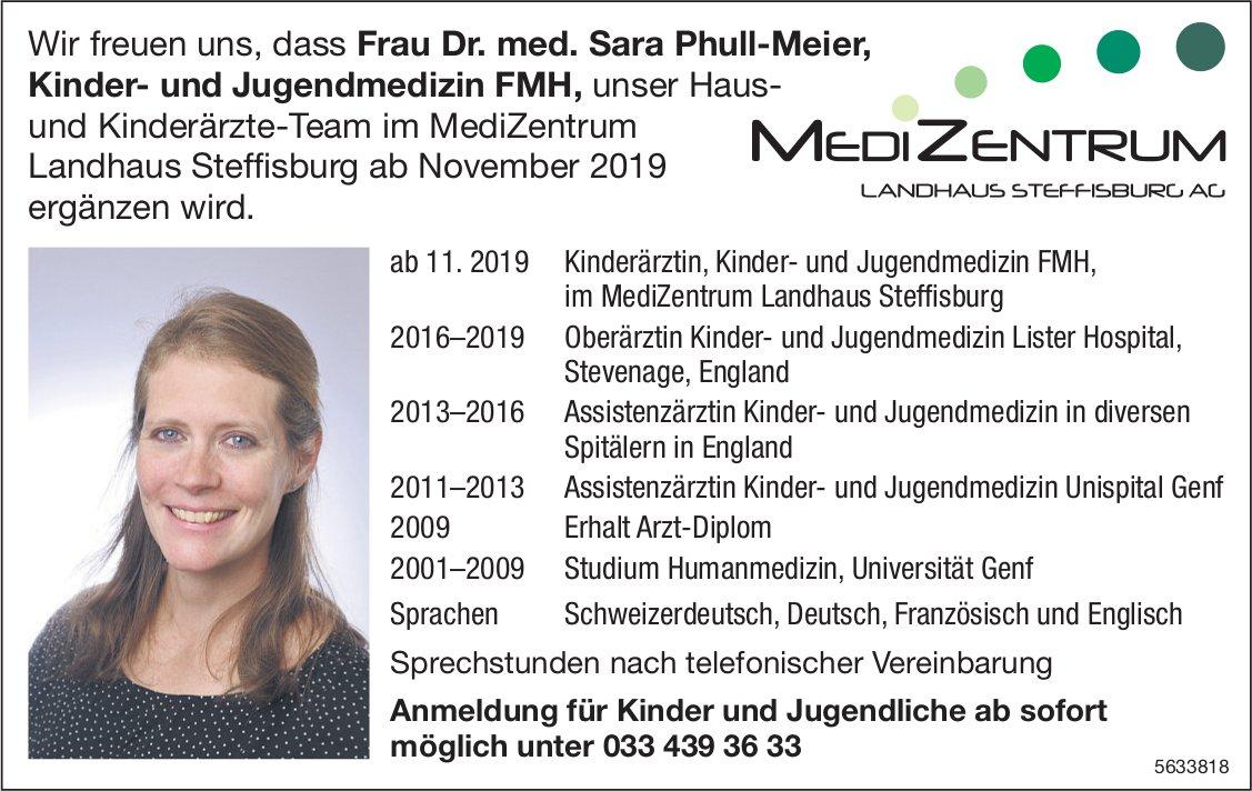 Frau Dr. med. Sara Phull-Meier im Medi Zentrum, Landhaus Steffisburg AG