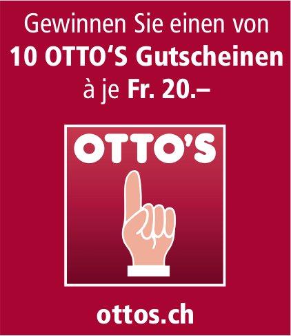 Otto's - Gewinnen Sie einen von 10 OTTO'S Gutscheinen à je Fr. 20.–