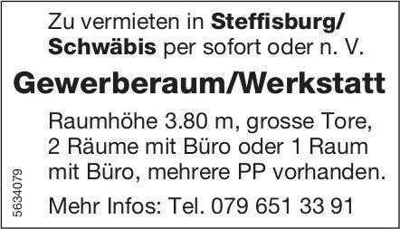 Gewerberaum/Werkstatt in Steffisburg/ Schwäbis zu vermieten