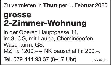 Grosse 2-Zimmer-Wohnung in Thun zu vermieten