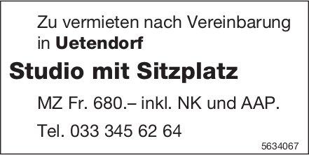 Studio mit Sitzplatz in Uetendorf zu vermieten