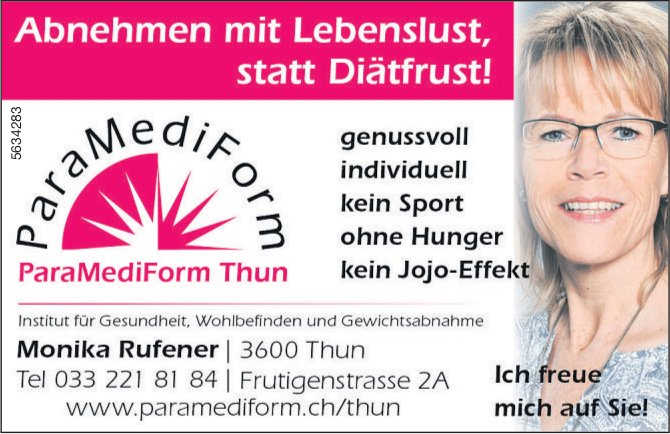 ParaMediForm Thun - Abnehmen mit Lebenslust, statt Diätfrust!