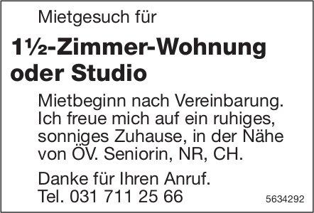 Mietgesuch für 1½-Zimmer-Wohnung oder Studio in der Nähe von ÖV