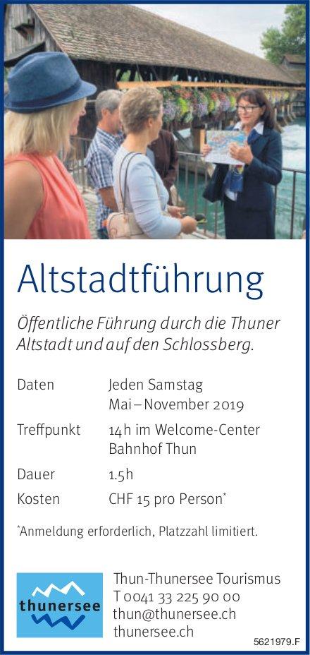 Thun-Thunersee Tourismus - Altstadtführung jeden Samstag bis November