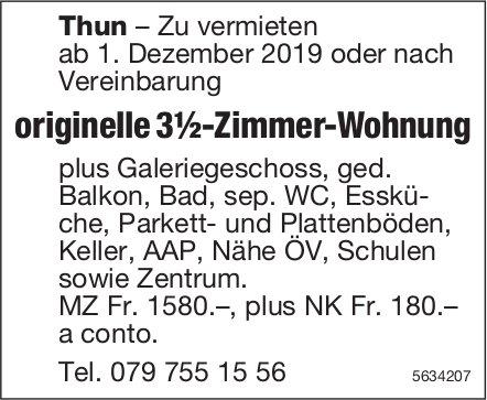 Originelle 3½-Zimmer-Wohnung in Thun zu vermieten