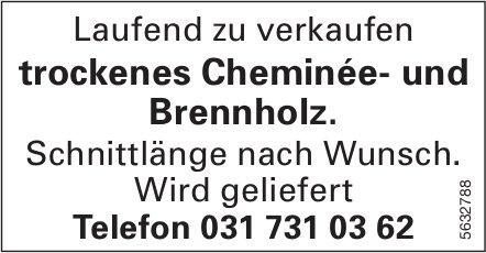 Trockenes Cheminée- und Brennholz zu verkaufen