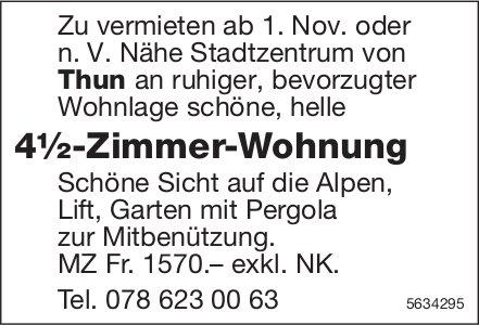 4½-Zimmer-Wohnung Nähe Stadtzentrum von Thun zu vermieten