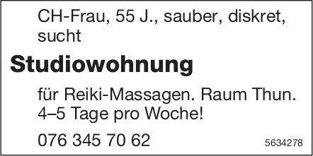 Studiowohnung für Reiki-Massagen, Raum Thun, gesucht