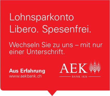 Bank AEK - Lohnsparkonto Libero. Spesenfrei.