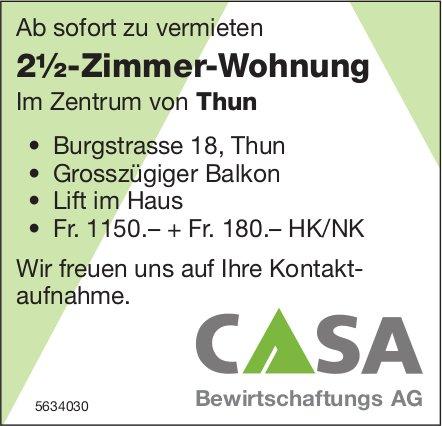 2½-Zimmer-Wohnung im Zentrum von Thun zu vermieten