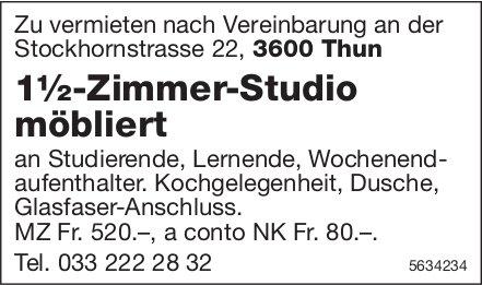 1½-Zimmer-Studio möbliert in Thun zu vermieten