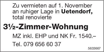 3½-Zimmer-Wohnung in Uetendorf zu vermieten