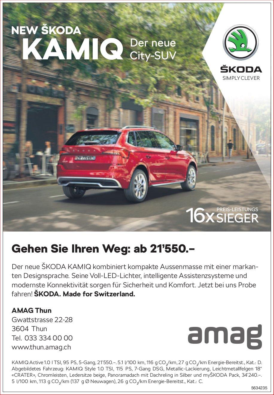AMAG Thun - NEW SKODA KAMIQ: Der neue City-SUV