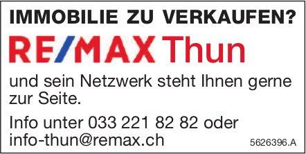 IMMOBILIE ZU VERKAUFEN? RE/MAX Thun steht Ihnen gerne zur Seite.