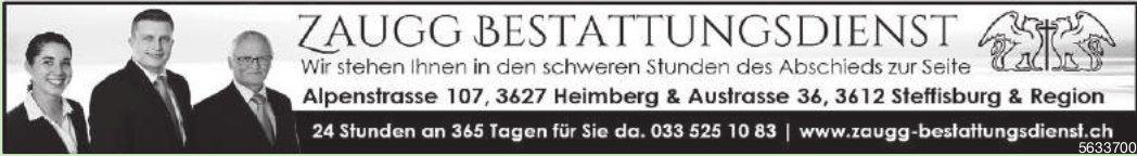 ZAUGG BESTATTUNGSDIENST, Heimberg, Steffisburg und Region