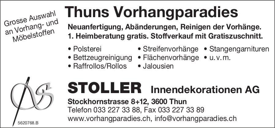 STOLLER Innendekorationen AG - Thuns Vorhangparadies