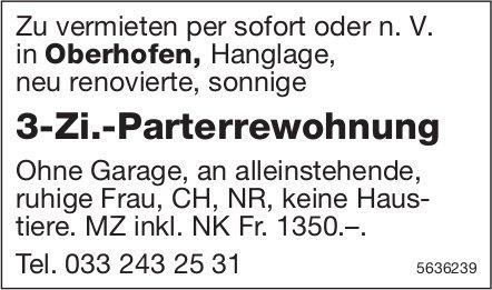 3-Zi.-Parterrewohnung in Oberhofen zu vermieten